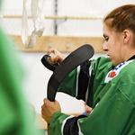 Ana Krebs  je že vse življenje v stiku s hokejem  in drsališči. (foto: Sara Ros)