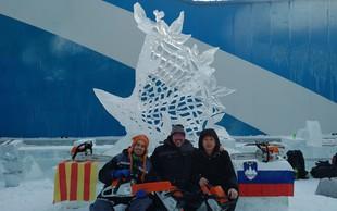 Slovenija prvič osvojila nagrado na svetovnem festivalu ledenih skulptur