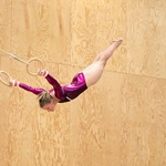 Amélie Reymond v poletnem delu sezone tekmuje tudi v gimnastiki. (foto: Boštjan Belčič, Didier Panchard In Arhiv Amélie Reymond)