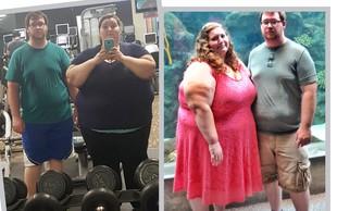 Za navdih: Par, ki je v enem letu izgubil skoraj 140 kilogramov! Poglejte si to preobrazbo!