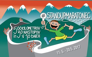 #StandUpMaratonec: 10 dni, 500 km teka, 30 nasmejanih mest