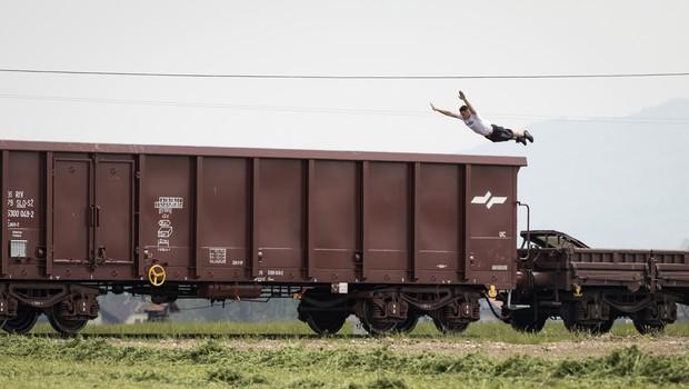 VIDEO: Nor spektakel na akrobatskem vlaku! (foto: Katja Pokorn)