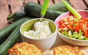 Bučkine polpete s sirom in paradižniki