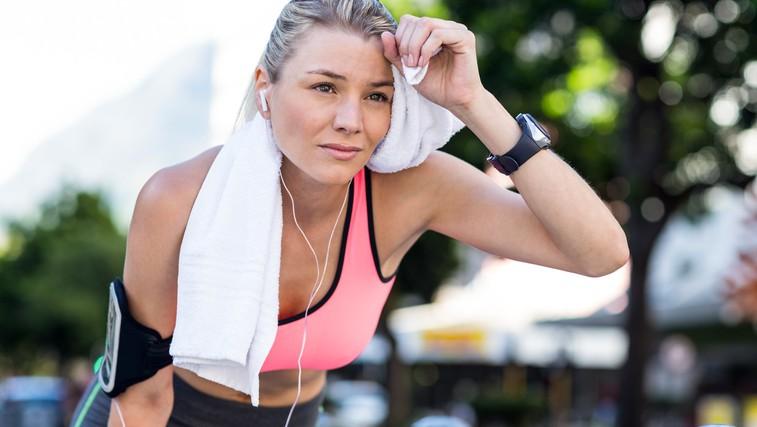 Bi morali biti zaskrbljeni zaradi rdečice na obrazu po vadbi? (foto: Profimedia)