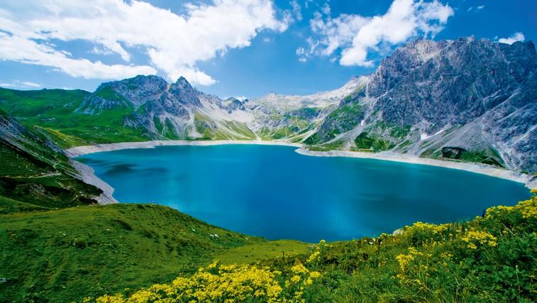Lünersee, kratersko jezero na 1970 m n. v. (foto: Profimedia)
