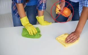6 stvari, ki ste jih pri čiščenju doma do zdaj delali narobe (za lažje in bolj ekonomično čiščenje)
