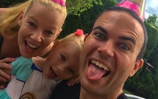 Tako prikupno družino ima naš skakalec Jernej Damjan!
