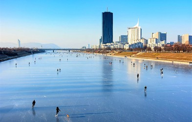 Ideja za zimski izlet: Na drsanje po Dunaju