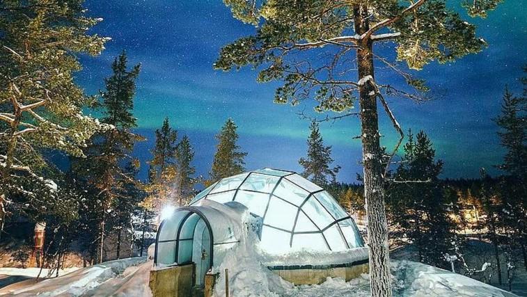 Zimska pravljica: Kakslauttanen Arctic Resort na Finskem (foto: Instagram/Kakslauttanen Arctic Resort)