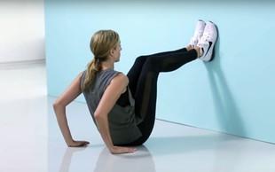 Ste pripravljeni na izziv? Poiščite najbližjo steno in naredite TA odličen trening za čvrste trebušne mišice! (VIDEO)
