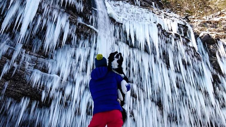Zimski izlet: Ledeno kraljestvo pri slapu Peričnik (foto: Nejc Juvan)