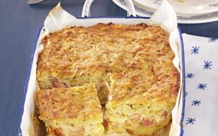 Krompirjeva pita s kislim zeljem