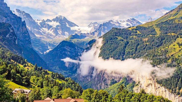 Švicarske gorske vasi, v katerih ni dovoljen cestni promet (foto: Profimedia)