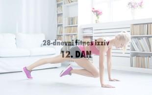 28-dnevni fitnes izziv: 12. DAN (+ Živila, ki se jim pred treningom raje izognite)