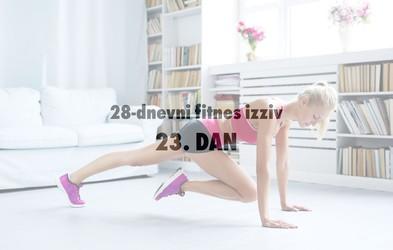 28-dnevni fitnes izziv: 23. DAN (+ Načrt okrevanja po napornem treningu)