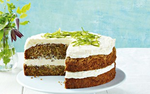Bučkina torta z limeto