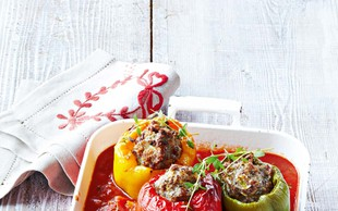 Pečene paprike  z mletim mesom