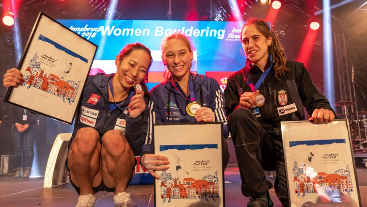 Janja Garnbret: Pri 19 letih že drugič svetovna prvakinja! (foto: Luka Fonda)