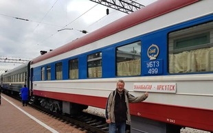 Marijan Petan iz New Swing Quarteta  s Transsibirsko železnico od Moskve do Mongolije!