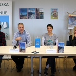 Knjižne novosti Planinske založbe so predstavili Jože Drab, Gorazd Gorišek, Mojca Stritar Kučuk in Kristina Menih (foto: Manca Čujež)