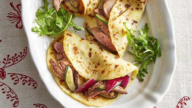 Krompirjeve palačinke z gosjimi jetri (foto: Profimedia)