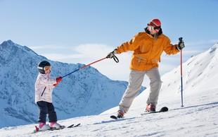 Sledimo stopinjam naših staršev: Otroka bom naučil smučati!