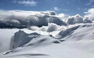 FOTO: Zimska pravljica na Kaninu, kjer je trenutno kar 3 metre snega