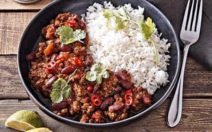 Chilli con carne z rižem