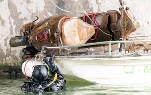 Za nami je že 28. čistilna akcija Ljubljanice - potapljači so jo očistili za več kot tono odpadkov!