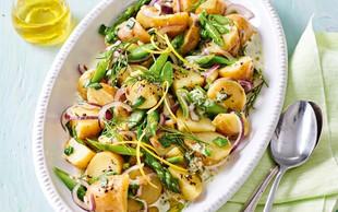 Pomladanska krompirjeva solata z beluši
