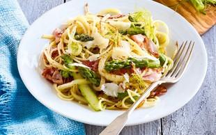Špageti s koromačem in beluši