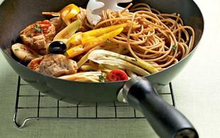 Polnozrnati špageti iz voka