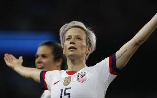 Američanka Megan in Brazilka Marta - zvezdnici ženskega nogometa