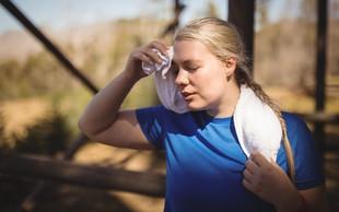 Zakaj poleti telovadim slabše kot običajno?