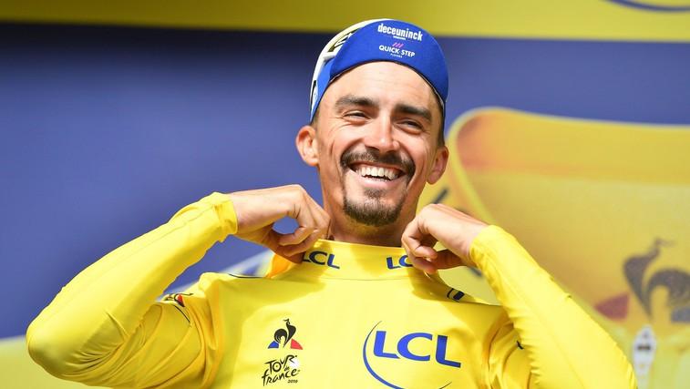 Dirka po Franciji: Julian Alaphilippe še vedno v rumeni majici (foto: Profimedia)