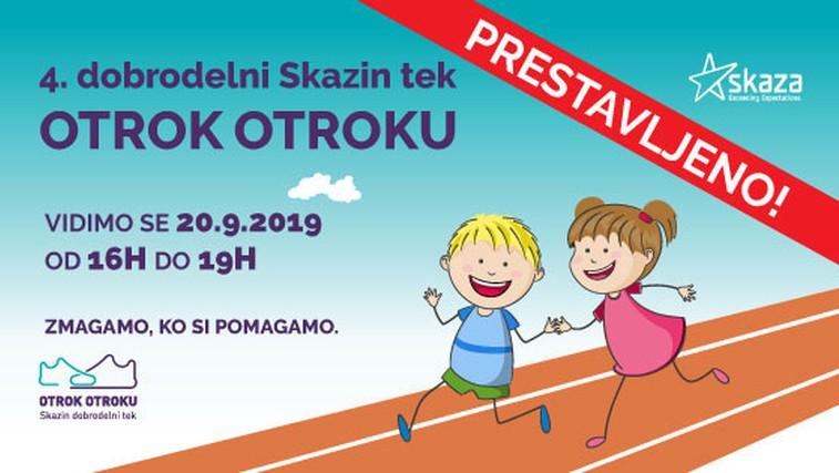 Skazin tek: Otroci iz vse Slovenije bodo s tekom pomagali svojim vrstnikom v stiski (foto: Promocijsko gradivo)