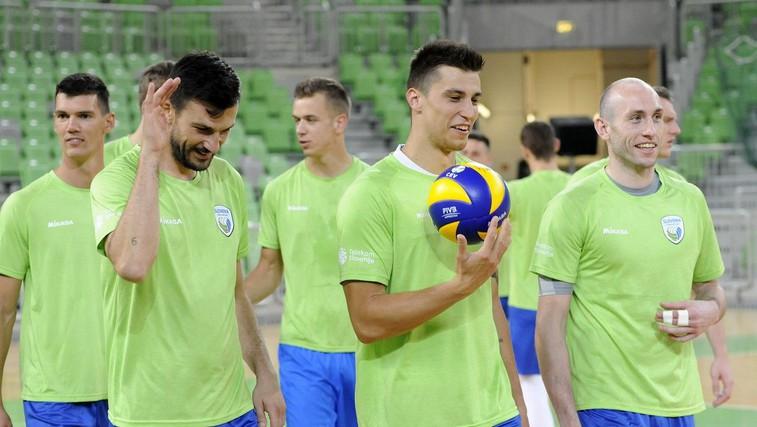 Slovenski odbojkarji po olimpijsko vozovnico (foto: OZS; Foto: Aleš Oblak)