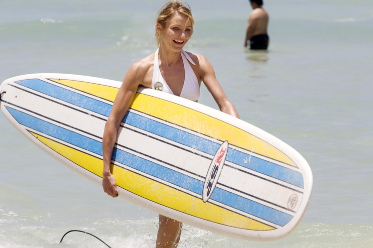 Cameron Diaz Igralka je svoja najstniška leta preživela pretežno na deski na morju in še danes je deskanje - na …