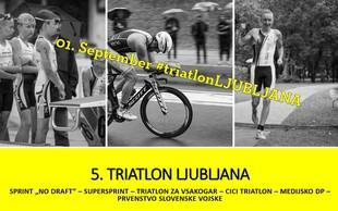 V nedeljo je na sporedu 5. ljubljanski triatlon