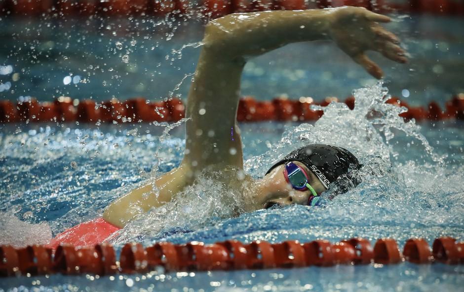 Ne morete vstati za šolo? Dan mlade plavalke Katje Fain se začne ob 5. uri zjutraj (foto: Družinski arhiv)