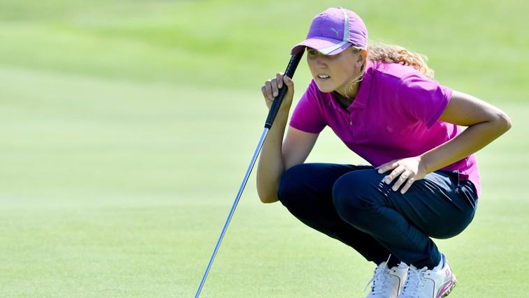 15-letna Pia Babnik - ena najboljših amaterskih igralk golfa v Evropi (foto: profimedia)