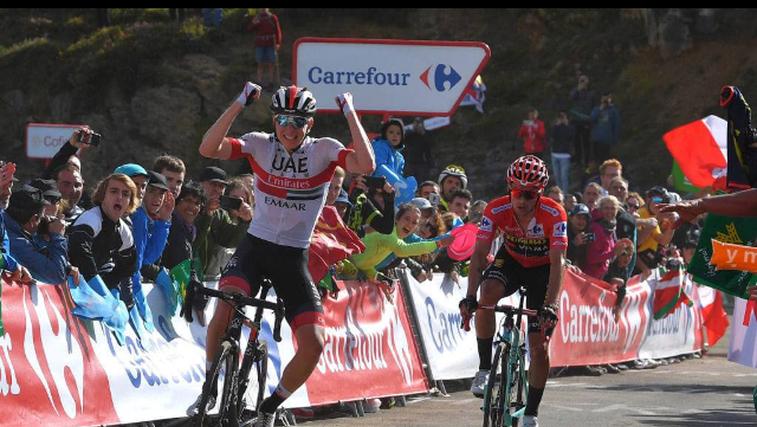 Pogačar in Roglič še naprej pišeta zgodovino slovenskega kolesarstva (foto: Eurosport)