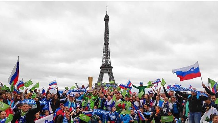 Gremo Slovenija: Zdravljica in harmonika se razlegata po Parizu (foto: Instagram EuroVolley)