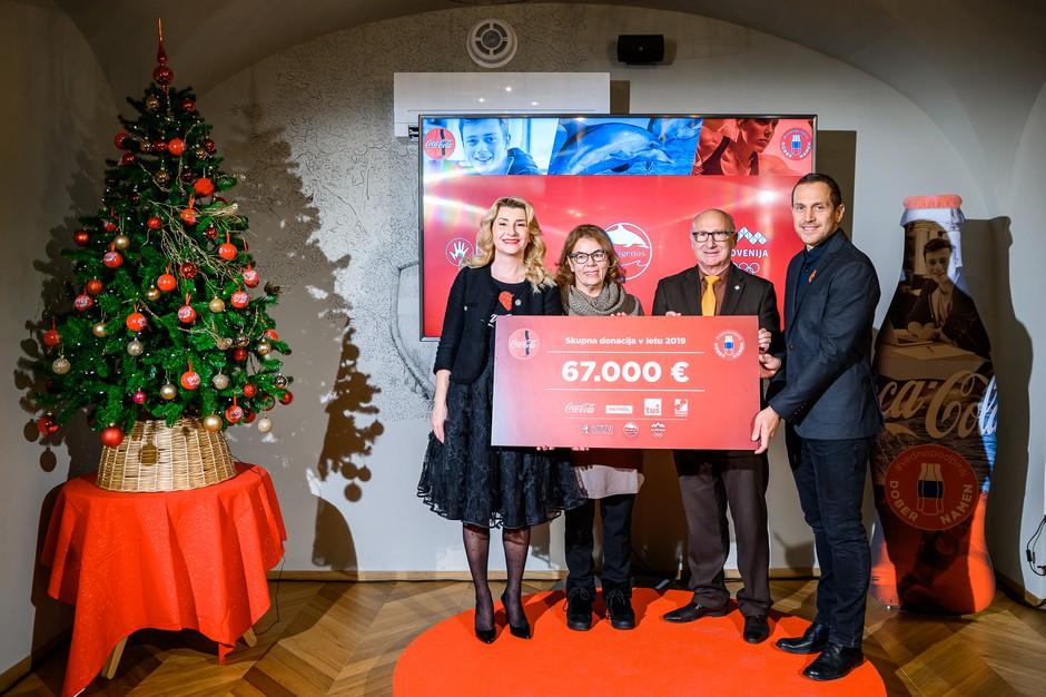 Coca-Cola s partnerji letos donirala 67 tisoč evrov za tri dobre namene (foto: Matic Kremžar)