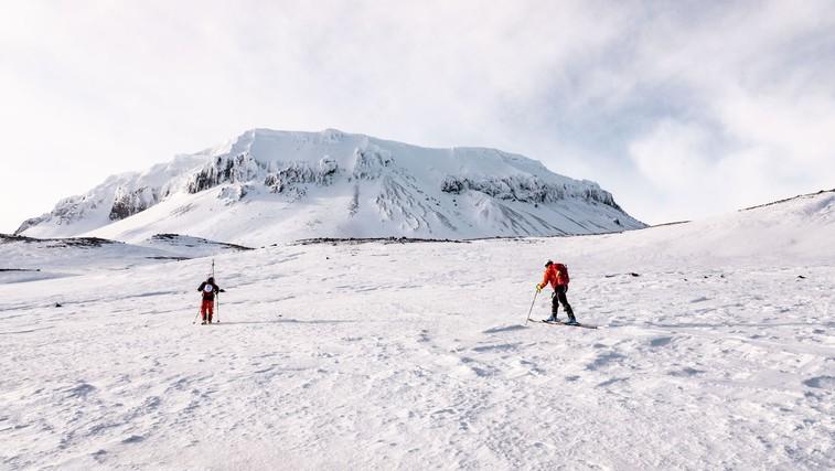 Kostelić in trije Slovenci smučali po vulkanih (foto: Skiing the Fire Ring)