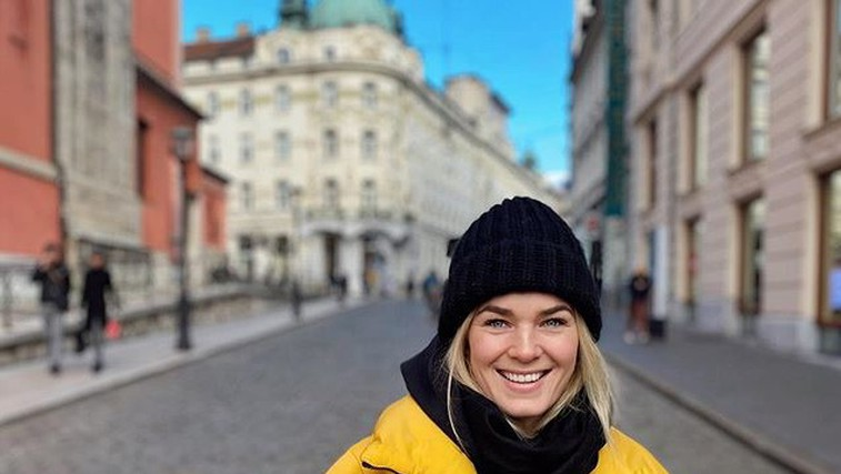 Smučarka Nina Haver - Loeseth z možem silvestrovala v Ljubljani (foto: instagram)