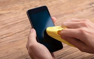 Koronavirus: kako pravilno očistiti telefon? (Covid-19 na steklu telefona preživi tudi 96 ur!)