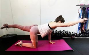 VIDEO: Kratek trening za celo telo s kineziologinjo in osebno trenerko