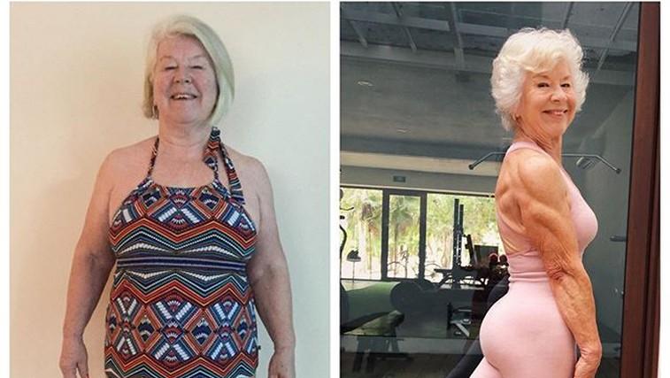 Od 70 letne bolne starke do super fit babice z mišicami - trenirajte z Joan (foto: Instagram)