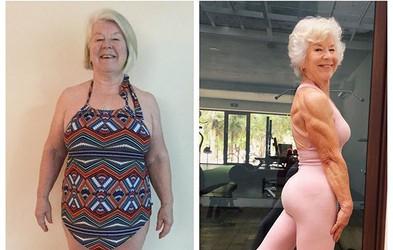 Od 70 letne bolne starke do super fit babice z mišicami - trenirajte z Joan